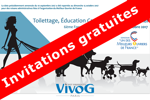 invitations gratuite pour le forum du toilettage